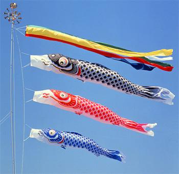 鯉のぼり 鯉は生命力が強く、出世魚とされていて、将来の立身出世を象徴するのにふさ... 飾りのバ
